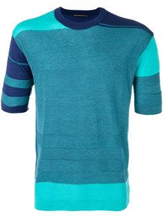 geometric pattern knitted T-shirt Issey Miyake Men