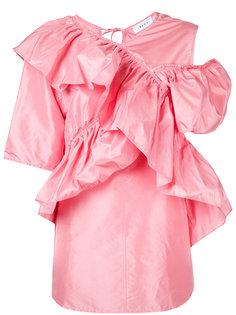 блузка с асимметричной оборкой Irene