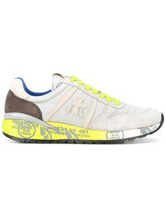 lace up trainers Premiata White