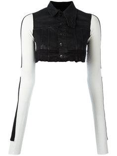 укороченный джинсовый жилет Rick Owens DRKSHDW