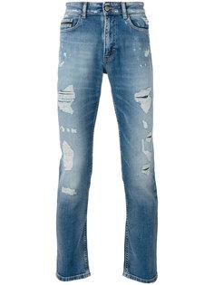 состаренные джинсы кроя слим Calvin Klein Jeans