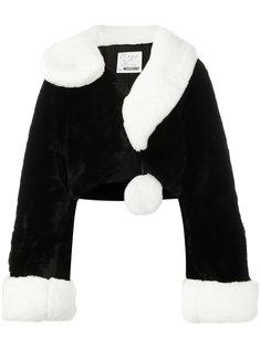 куртка из искусственного меха Question Mark Moschino Vintage