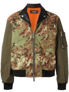 куртка бомбер с камуфляжным рисунком Dsquared2