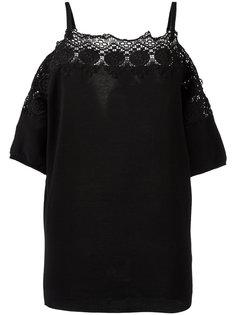 блузка с открытыми плечами Agnona