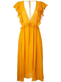 расклешенное платье Georgette Le Ciel Bleu