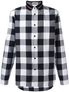 polo collar checked shirt Dior Homme