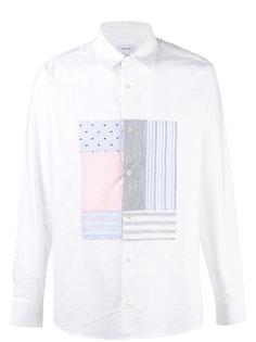 рубашка со вставкой в стиле пэчворк Soulland