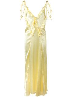 длинное платье с рюшами Attico