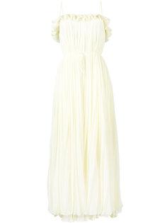 плиссированное вечернее платье без рукавов Adam Lippes