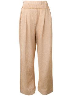 прямые брюки с заниженным шаговым швом Boboutic