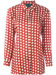рубашка в горох с панелью в стиле жилета сзади Jean Paul Gaultier Vintage