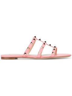 сандалии Flat Rockstud Valentino