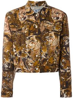джинсовый жакет с леопардовым принтом  Kenzo Vintage