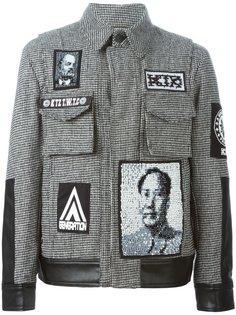 твидовая куртка с нашивками KTZ