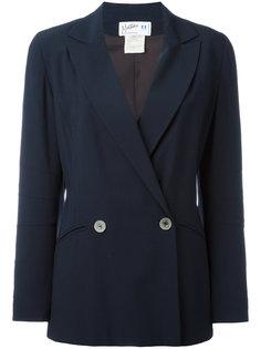 пиджак с прозрачными пуговицами  Claude Montana Vintage