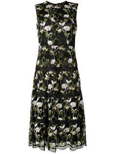 платье без рукавов с вышитыми цветами Giambattista Valli