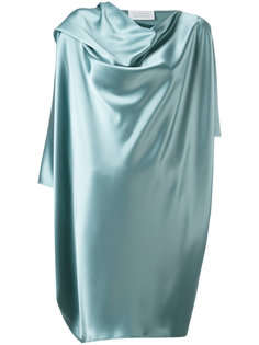 draped metallic dress Gianluca Capannolo