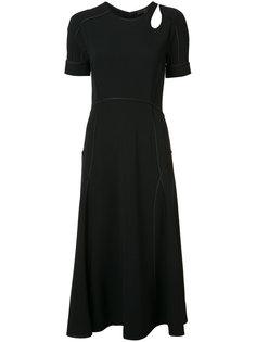 приталенное платье с короткими рукавами Alexander Wang