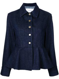 джинсовая куртка с баской  Le Ciel Bleu
