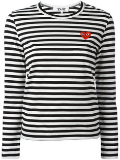 logo stamp striped top Comme Des Garçons Play