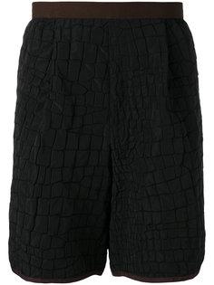 шорты с эффектом крокодиловой кожи  Kolor