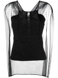 блузка с прозрачными панелями и плиссировкой Io Ivana Omazic