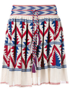 knitted Aztec design skirt Laneus