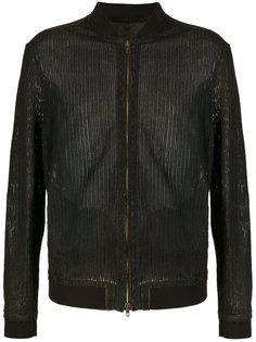 leather bomber jacket  Salvatore Santoro