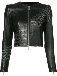 укороченная куртка с отделкой скрепками Dsquared2
