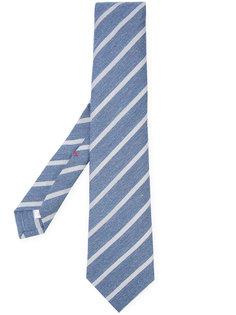 классический галстук в полоску Isaia