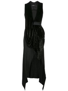 draped plunge dress Kitx