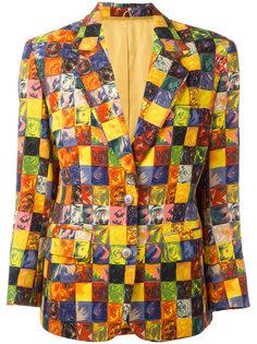 клетчатый пиджак Kenzo Vintage