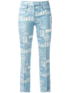 расклешенные джинсы с принтом Galliano Team John Galliano Vintage