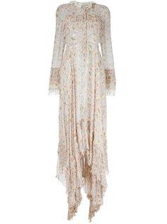 платье-рубашка с цветочным принтом    Philosophy Di Lorenzo Serafini