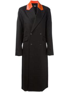 двубортное пальто с заостренными лацканами  Yang Li