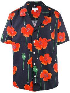 рубашка в короткими рукавами и цветочным принтом  Soulland