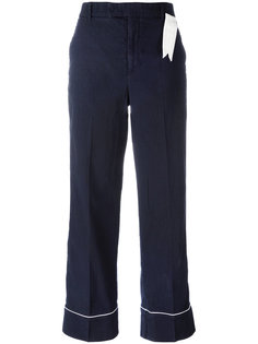 contrast trim trousers  The Gigi