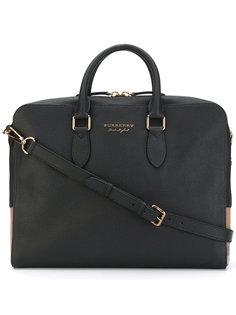 сумка для ноутбука с фирменной отделкой Burberry