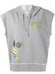 sleeveless patch detail hoodie  Mira Mikati