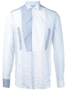 лоскутная рубашка в полоску Loewe