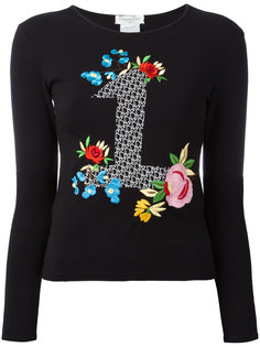 блуза с вышитым цветочным рисунком #1 Christian Dior Vintage