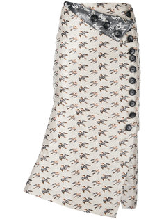 жаккардовая юбка с узором птиц Irene