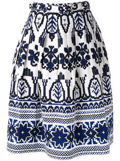 flared printed skirt  Samantha Sung
