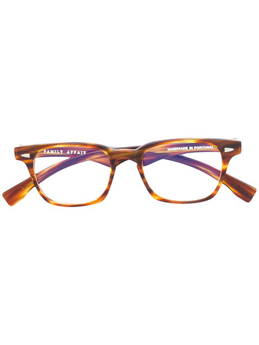 square frame glasses Family Affair