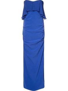 вечернее платье без бретелек Nicole Miller