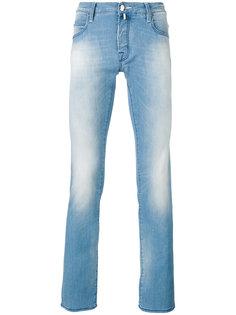 джинсы скинни с эффектом кислотной стирки  Jacob Cohen