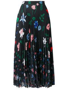 плиссированная юбка с цветочным принтом Markus Lupfer