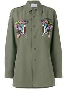 рубашка в стиле милитари с вышивкой Eagle Forte Couture