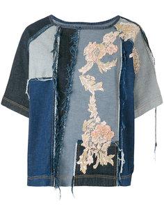 джинсовый топ с вышивкой Antonio Marras