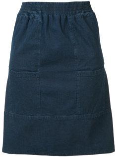 джинсовая юбка с передними карманами A.P.C.